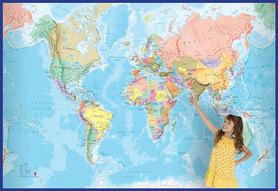 ŚWIAT polityczna mapa fototapeta 232 x 158 cm 1:16 000 000 Maps International