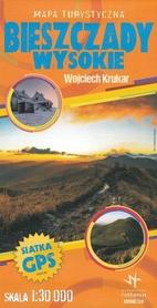 BIESZCZADY WYSOKIE mapa turystyczna laminowana 1:30 000 RUTHENUS