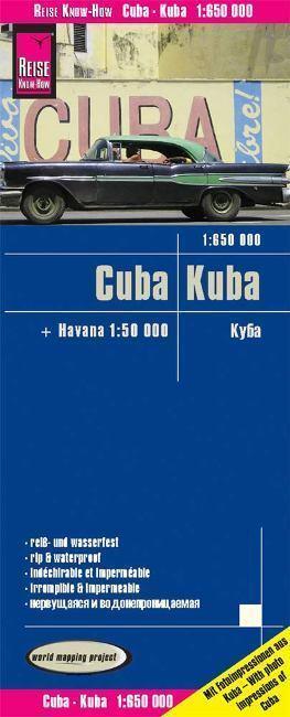KUBA mapa 1:650 000 REISE KNOW HOW wodoodporna 2019
