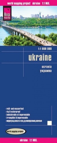 UKRAINA mapa 1:1 000 000 REISE KNOW HOW 2019