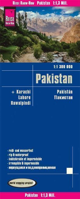 PAKISTAN mapa 1:1 300 000 REISE KNOW HOW 2019