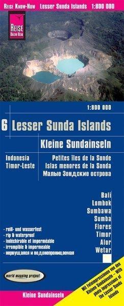 INDONEZJA CZ. 6 - MAŁE WYSPY SUNDAJSKIE mapa 1:800 000 REISE KNOW HOW Bali, Lombok, Sumbawa, Sumba, Flores, Timor, Alor, Wetar (1)
