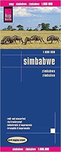ZIMBABWE mapa 1:800 000 REISE KNOW HOW 2019