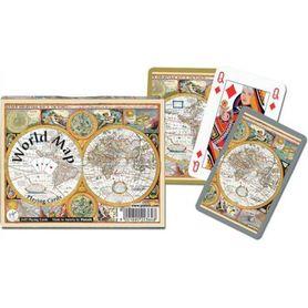 MAPA ŚWIATA karty do gry PIATNIK