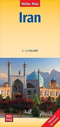 IRAN mapa 1:1 750 000 NELLES