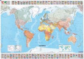 ŚWIAT POLITYCZNY Z FLAGAMI mapa ścienna 1:28 500 000 MICHELIN