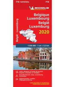 BELGIA LUKSEMBURG 2020 mapa samochodowa 1:350 000 MICHELIN 716