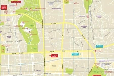 SEUL SEOUL  W.1 CityMap plan miasta LONELY PLANET  (2)