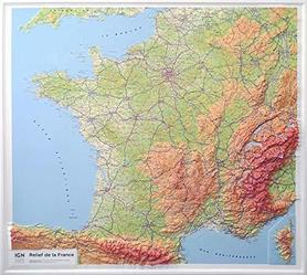 FRANCJA mapa plastyczna / reliefowa 1:1 160 000 IGN 2019