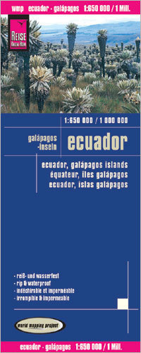 EKWADOR I GALAPAGOS mapa 1:1,1,6M/1:1M wodoodporna REISE KNOW HOW 2018
