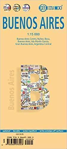 BUENOS AIRES W.9 plan miasta laminowany 1:15 000 BORCH 2019