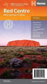 THE RED CENTTR Alice Springs to Uluru mapa 1:550 000 HEMA 2019