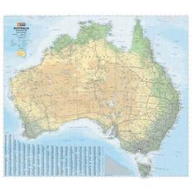 AUSTRALIA mapa ścienna 1:4 500 000 HEMA