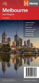 MELBOURNE i okolice mapa / plan miasta HEMA