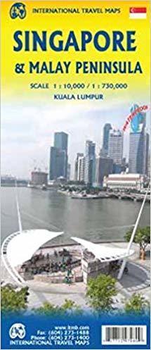 SINGAPUR PÓŁWYSEP MALAJSKI mapa 1:10 000 / 1:730 000 ITMB (1)
