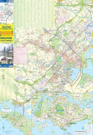 SINGAPUR PÓŁWYSEP MALAJSKI mapa 1:10 000 / 1:730 000 ITMB (2)