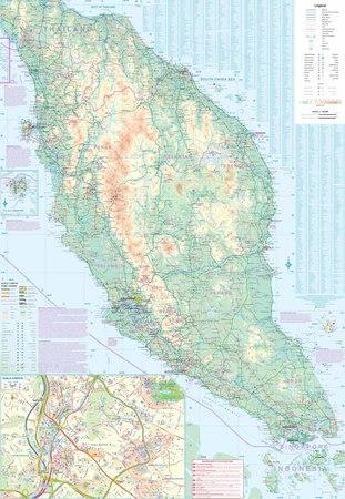 SINGAPUR PÓŁWYSEP MALAJSKI mapa 1:10 000 / 1:730 000 ITMB (3)