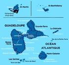 GUADELOUPE SAINT MARTIN SAINT BARTHELEMY mapa turystyczna 1:80 000 IGN 2019 (2)