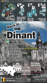 DINANT (Walonia) Bacek to the city mapa 1:25 000 M-A