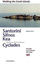 SANTORINI SIFINOS KEA CYKLADY POŁUDNIOWO-ZACHODNIE przewodnik GRAF EDITIONS