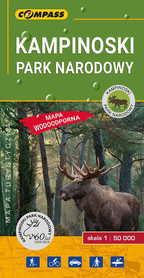 KAMPINOSKI PARK NARODOWY mapa laminowana 1:50 000 COMPASS 2019