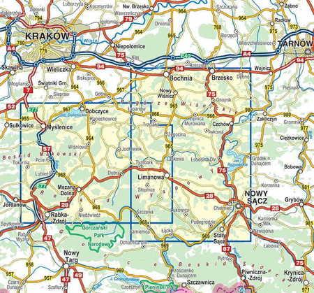 BESKID WYSPOWY mapa turystyczna 1:50 000 COMPASS 2020 (3)