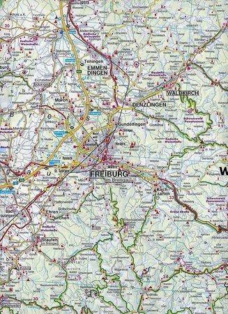 SCHWARZWALD, JURA SZWASKA, JEZ. BODEŃSKIE mapa samochodowa 1:150 000 FREYTAG & BERNDT 2019 (4)