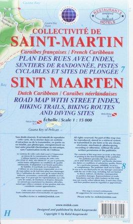 SAINT-MARTIN SINT-MAARTEN mapa wodoodporna 1:15 000 KASPROWSKI (1)