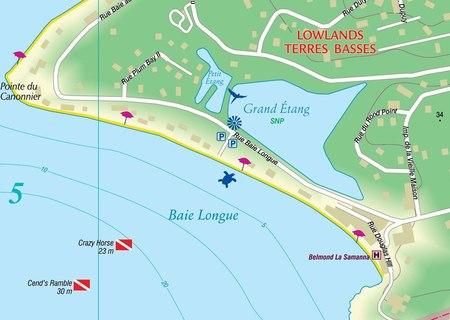 SAINT-MARTIN SINT-MAARTEN mapa wodoodporna 1:15 000 KASPROWSKI (2)