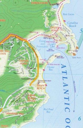 SAINT-MARTIN SINT-MAARTEN mapa wodoodporna 1:15 000 KASPROWSKI (3)