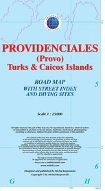PROVIDENCIALES TURKS & CAICOS mapa wodoodporna 1:25 000 KASPROWSKI