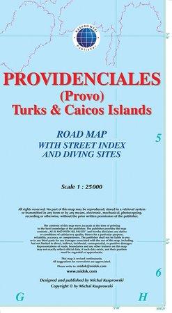 PROVIDENCIALES TURKS & CAICOS mapa wodoodporna 1:25 000 KASPROWSKI (1)