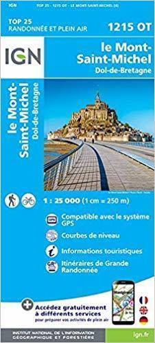 LE MONT ST-MICHEL 1215OT mapa topograficzna 1:25 000 IGN