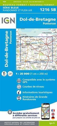 DOL-DE-BRETAGNE / PONTORSON 1216SB mapa topograficzna 1:25 000 IGN (1)