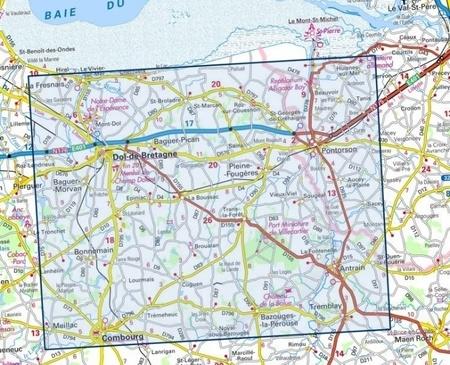 DOL-DE-BRETAGNE / PONTORSON 1216SB mapa topograficzna 1:25 000 IGN (2)
