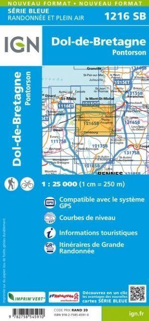 DOL-DE-BRETAGNE / PONTORSON 1216SB mapa topograficzna 1:25 000 IGN (3)
