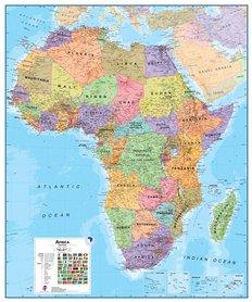 AFRYKA ścienna mapa polityczna 1:8 000 000 MAPS INTERNATIONAL