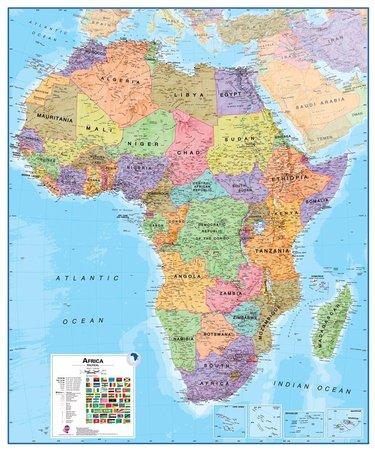 AFRYKA ścienna mapa polityczna 1:8 000 000 MAPS INTERNATIONAL (1)