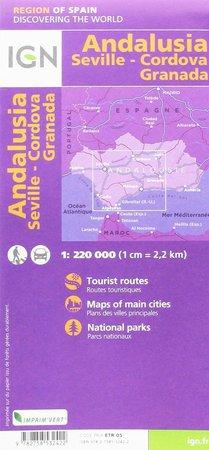 ANDALUZJA mapa 1:220 000 Sewilla Cordoba Grenada IGN (3)