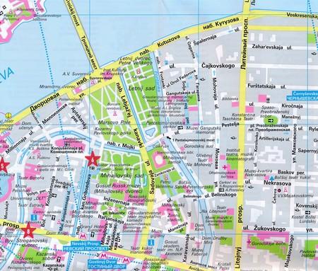 SANKT PETERSBURG laminowany plan miasta 1:15 000 MARCO POLO 2019 (2)
