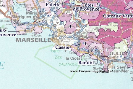WINES OF FRANCE Regiony Winne Francji mapa IGN (4)