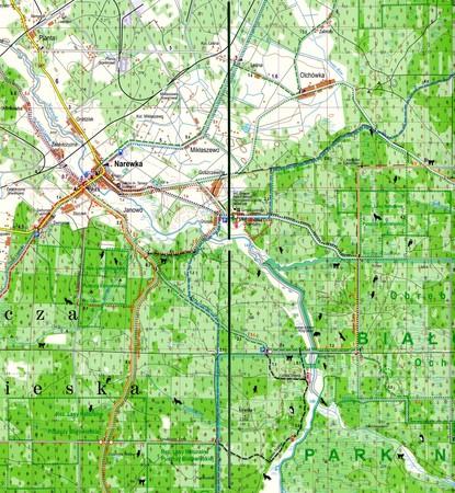 Puszcza Białowieska laminowana mapa turystyczna EXPRESSMAP (3)