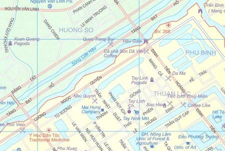 HUE, DA NANG, WIETNAM ŚRODKOWY mapa ITMB 2020 (3)