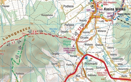 BESKID WYSPOWY laminowana mapa turystyczna 1:50 000 COMPASS 2020 (2)