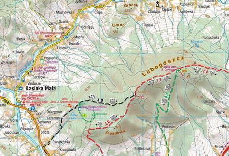 BESKID WYSPOWY laminowana mapa turystyczna 1:50 000 COMPASS 2020 (4)