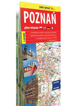 POZNAŃ papierowy plan miasta 1:20 000 EXPRESSMAP 2020
