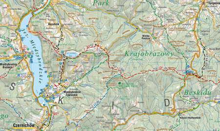 BESKID MAŁY mapa turystyczna 1:40 000 COMPASS 2020 (4)