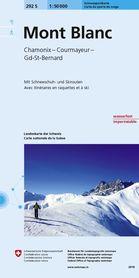Mont Blanc / Chamonix / Courmayeur mapa turystyczna 1:50 000 SWISSTOPO