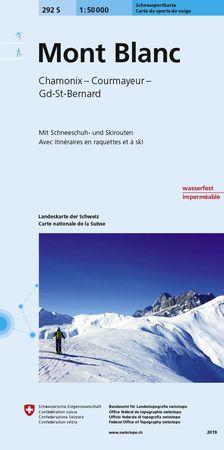 Mont Blanc / Chamonix / Courmayeur mapa turystyczna 1:50 000 SWISSTOPO (1)