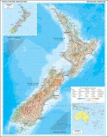 NOWA ZELANDIA  mapa ścienna w tubie 1:1 700 000 GIZIMAP
